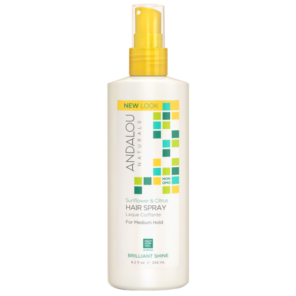 Andalou Naturals Sunflower & Citrus Brilliant Shine Hair Spray - 8.2 fl oz. - Health As It Ought to Be