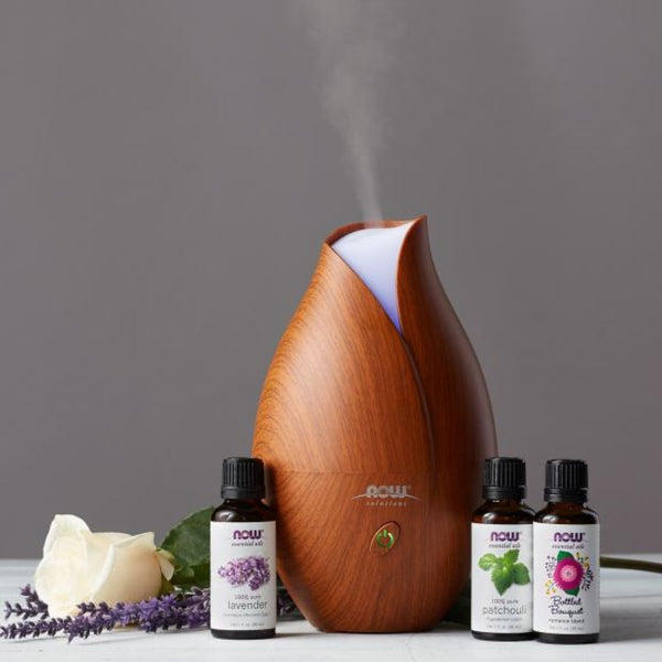 Now Foods Ultrasonic Faux Wood Essential Oil Diffuser - Health As It Ought to Be