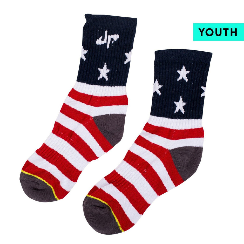 Dude Perfect Youth Stars and Stripes Socks