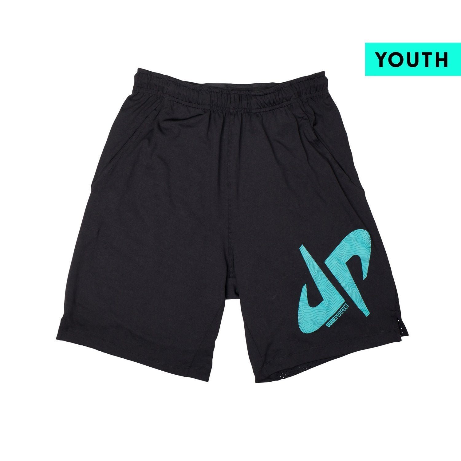 Youth Performance Shorts // Black + Green