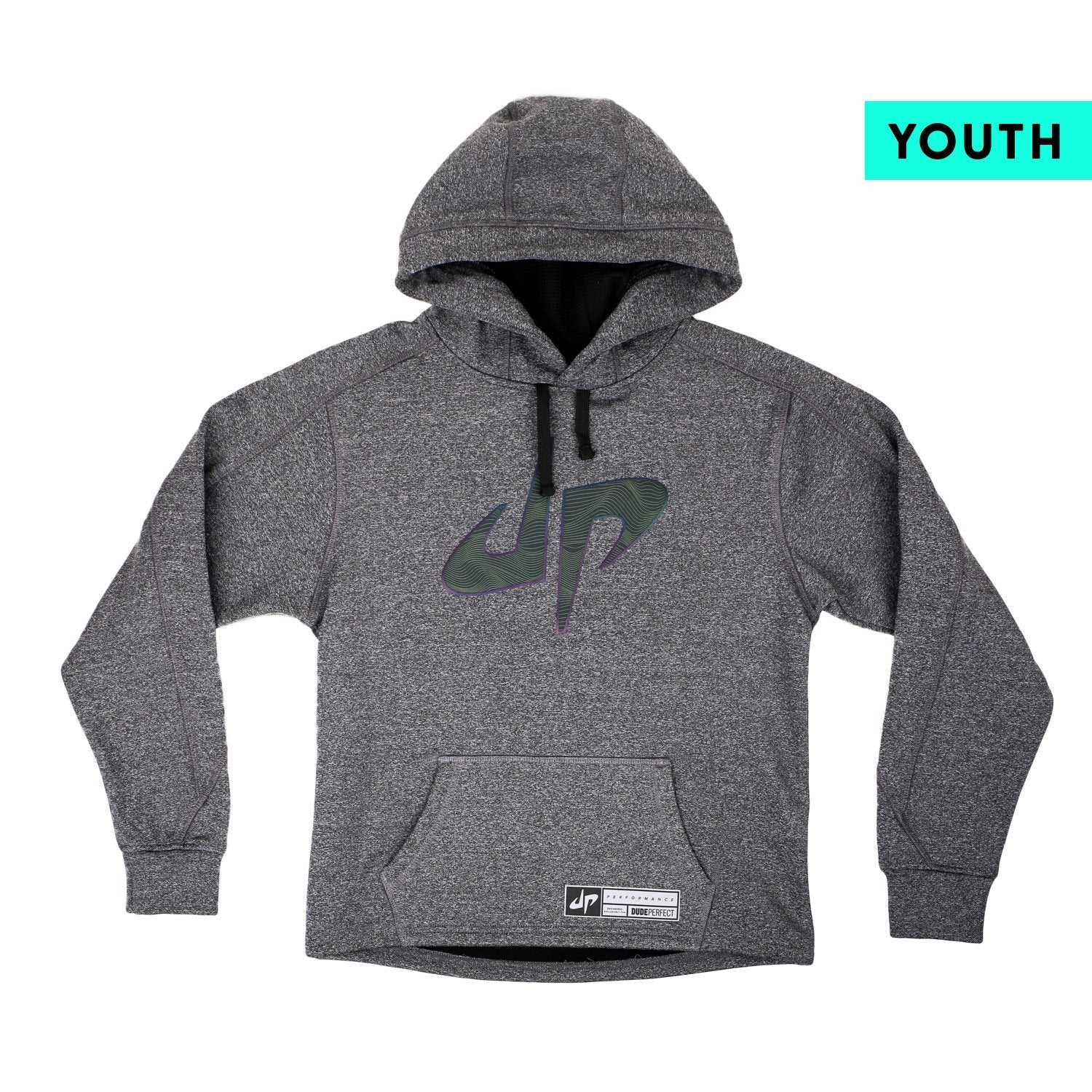 Youth Battles Charcoal Spectrum Reflective Performance Hoodie