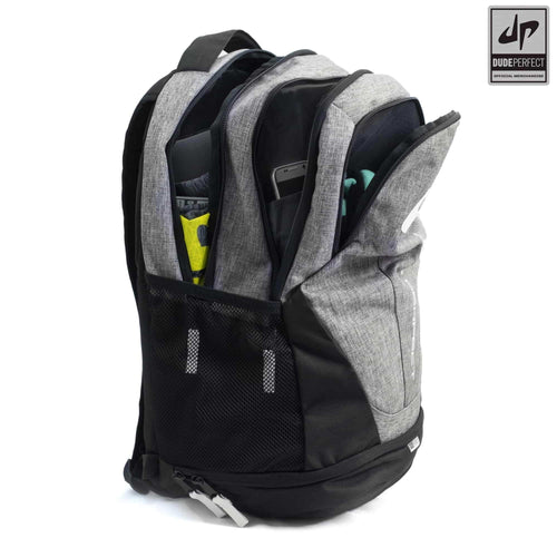 Dude Perfect Backpack III - Gray + Black + White