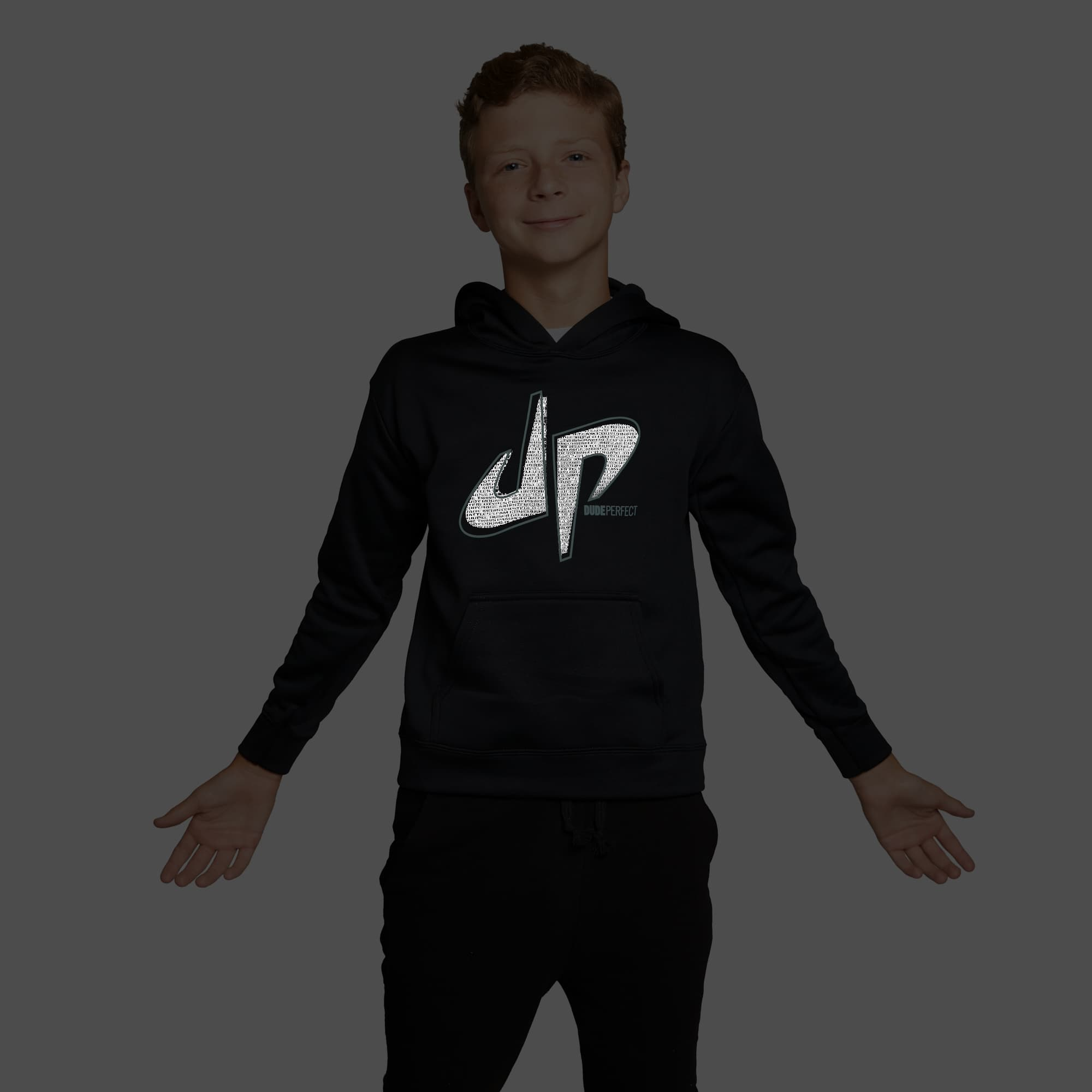 Pound It Reflective Performance Hoodie