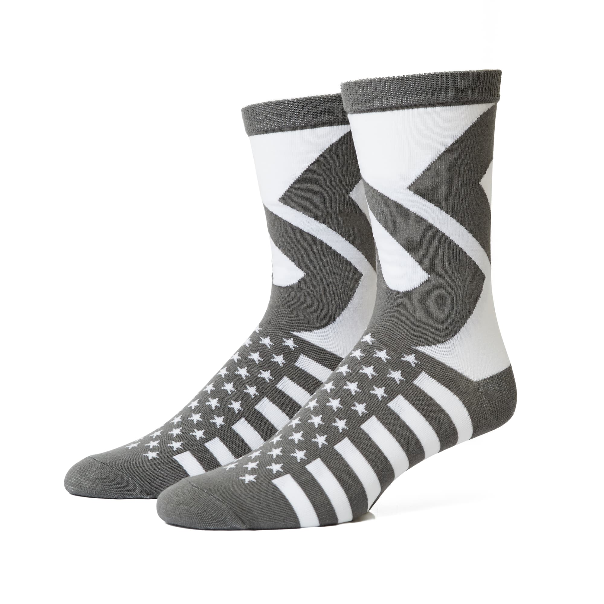 Stars and Stripes 5 Sock - Grey