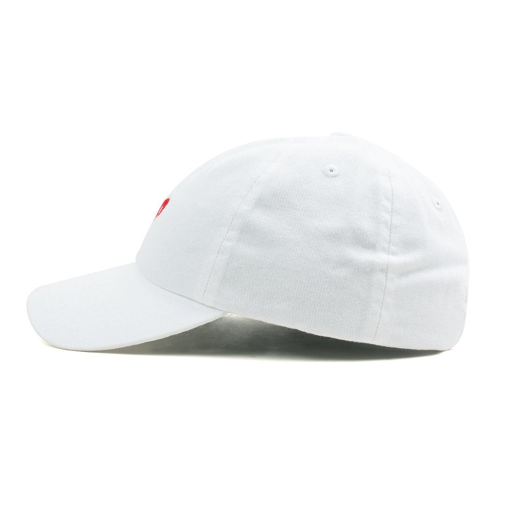 Dad Hat // White + Red