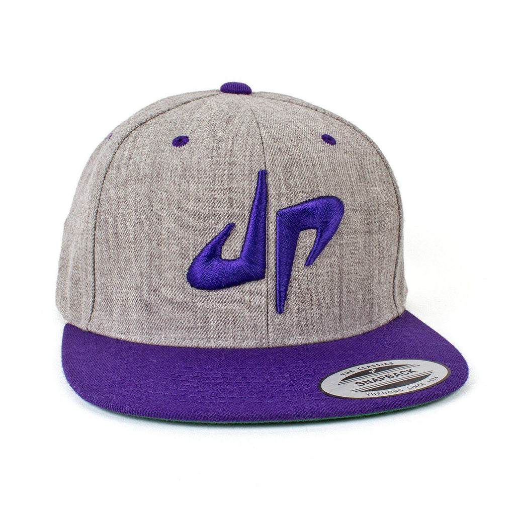DP Snapback // Gray + Purple