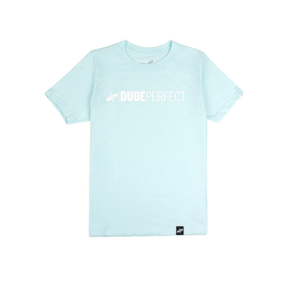 Youth Ice Blue Wordmark Tee