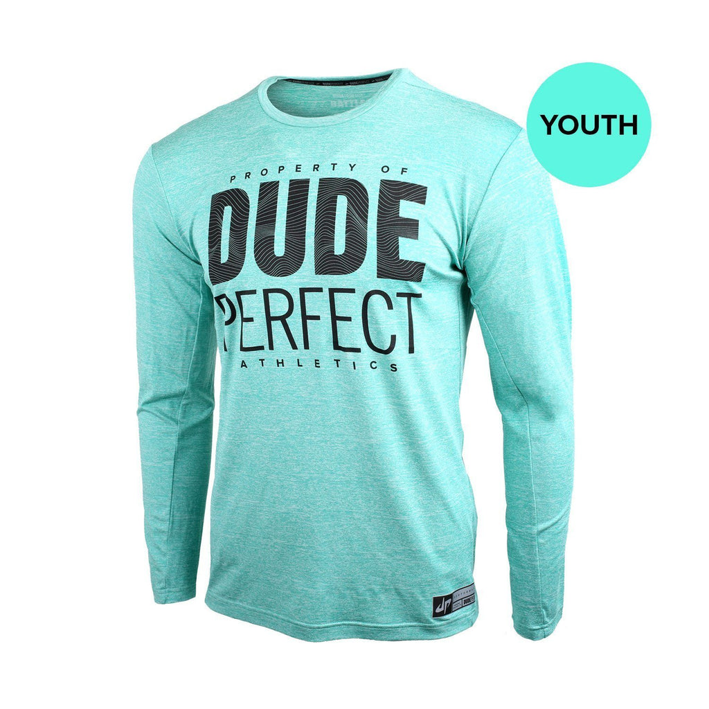 Youth Battles Mint Long Sleeve Property Of Performance Tee