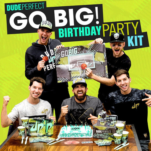 "Dude Perfect ""Go Big!"" Personalized Birthday Kit"