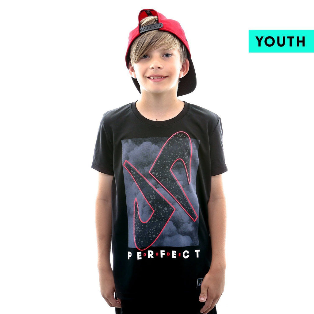 Youth Splatter Reflective Performance Tee
