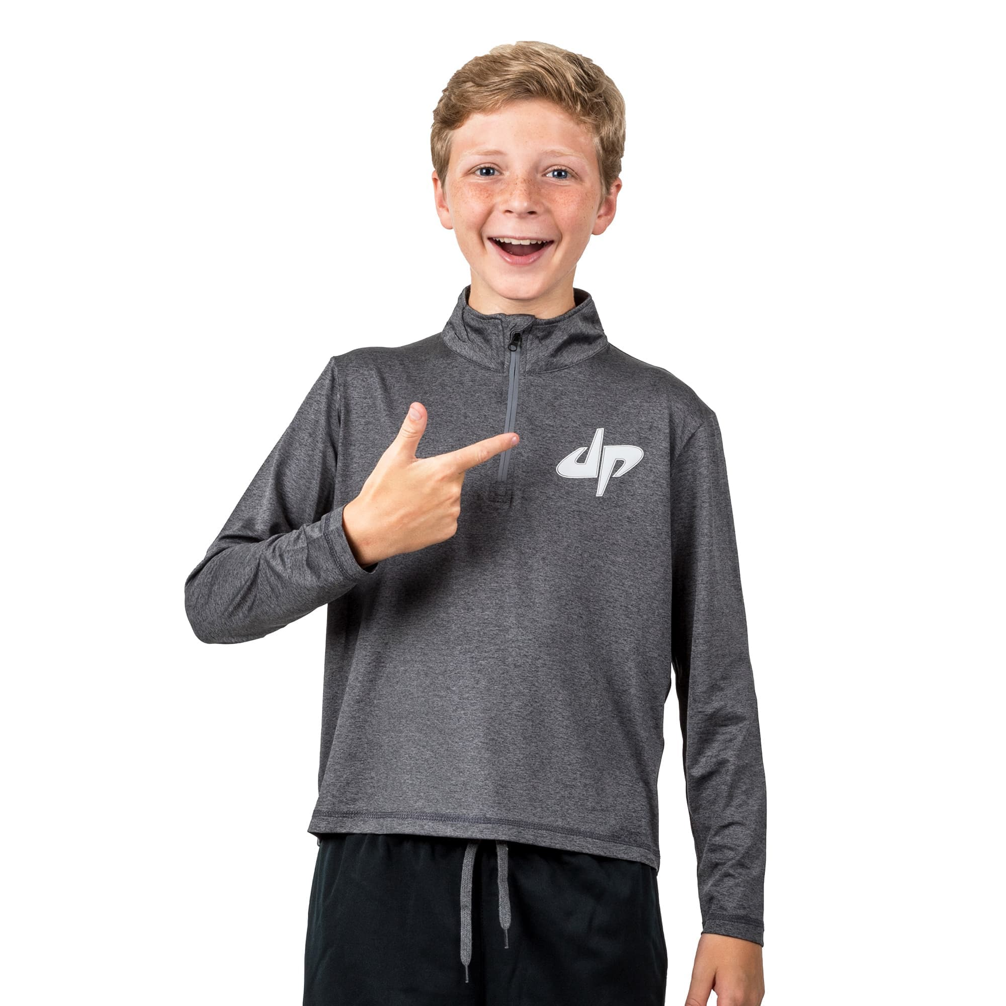 Youth Rivalry Reflective Half Zip Pullover Top II