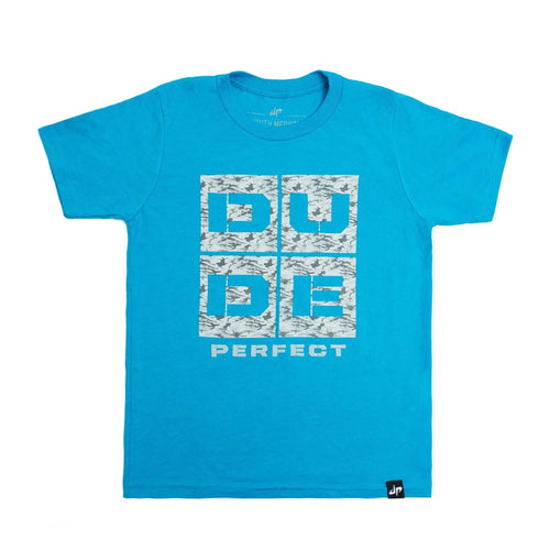 Youth Icy Blue Camo Tee
