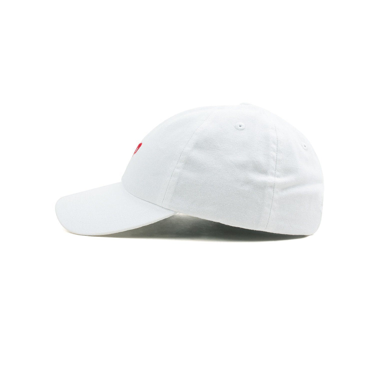 Youth Dad Hat // White + Red