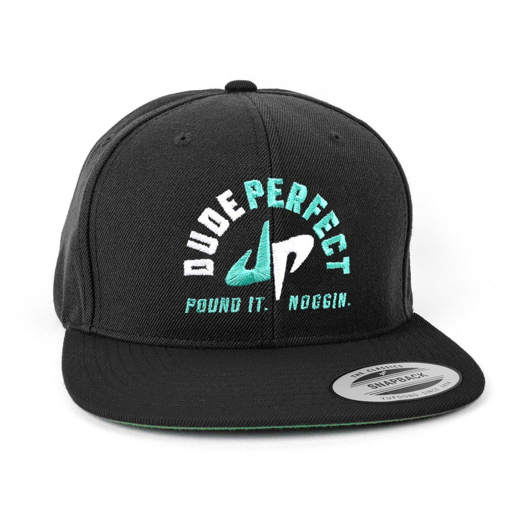 Pound it Noggin Snapback // Black + White + Green