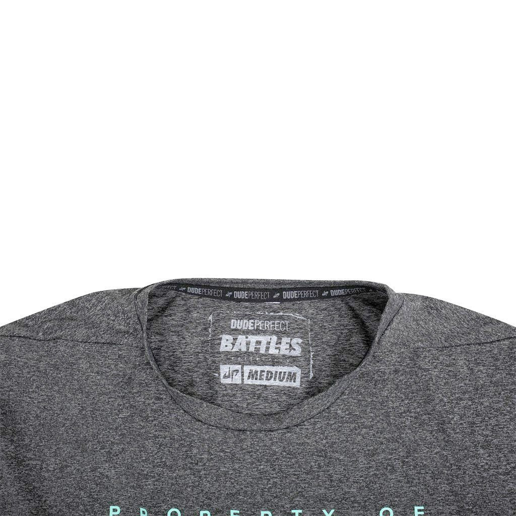 Battles Charcoal Long Sleeve Property Of Performance Tee