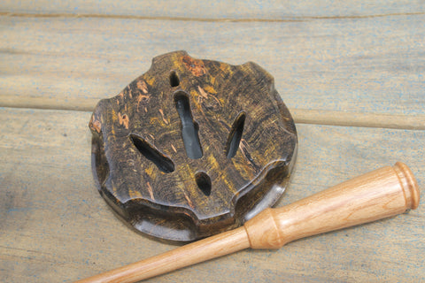 Turkey Call - Vault - Turkey Track - Black & Gold Burl