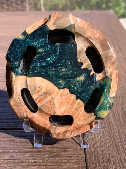 Turkey Call - Custom Shop - Classic - Buckeye Burl with Green/Gold Resin 8170