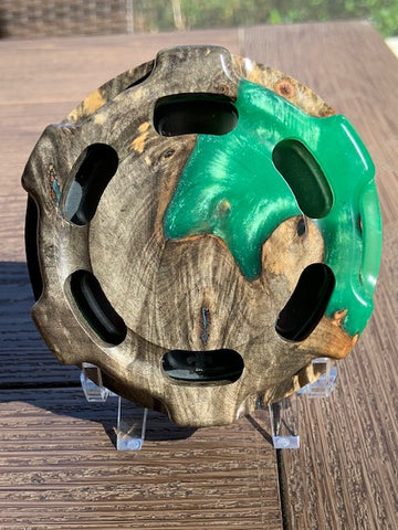Turkey Call - Custom Shop - Classic - Buckeye Burl with Green Resin 8171