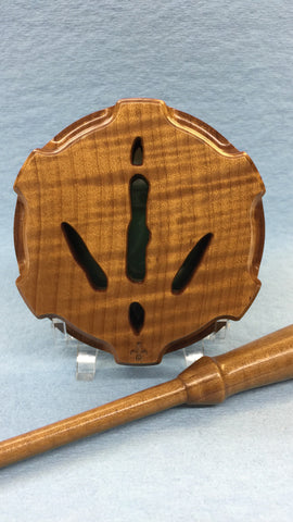 Turkey Call - Turkey Track - Roasted Maple, Aluminum/Glass