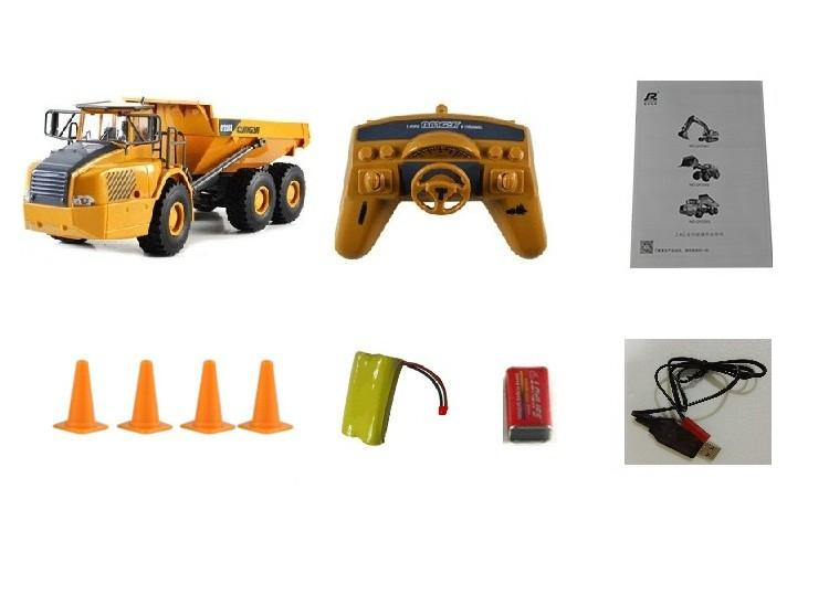 Remote Control Big Dump Truck Engineering Vehicles Loaded Sand Car with LED light and Operation Voice Toy For Kids Gift