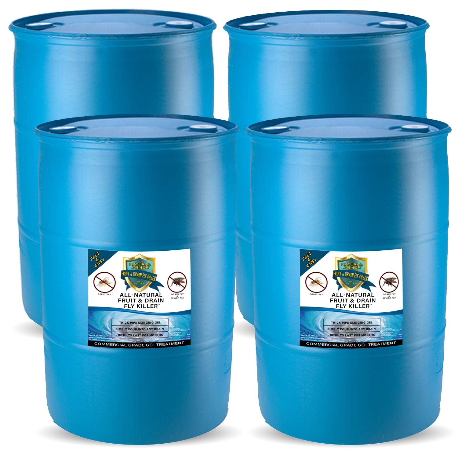 Fruit & Drain Fly Killer (4) 55 Gallon Drum