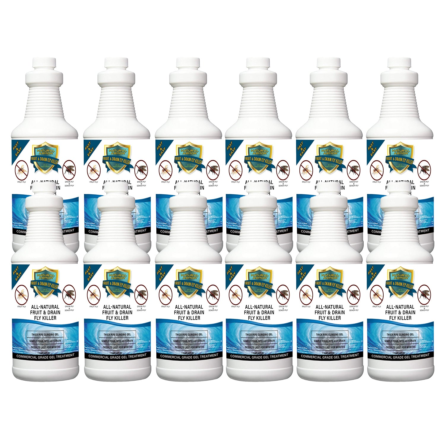 Fruit & Drain Fly Killer Case of (12) Quarts