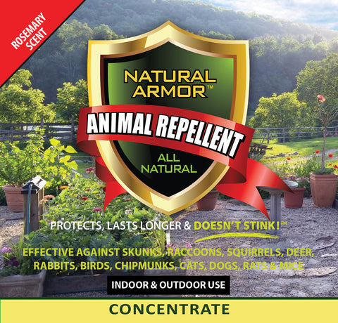 Animal Repellent - 7-to-1 Concentrate — Rosemary Scent - Case of (4) Gallons