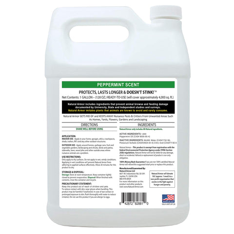Animal Repellent - Peppermint Spray GALLON (128 Oz.)