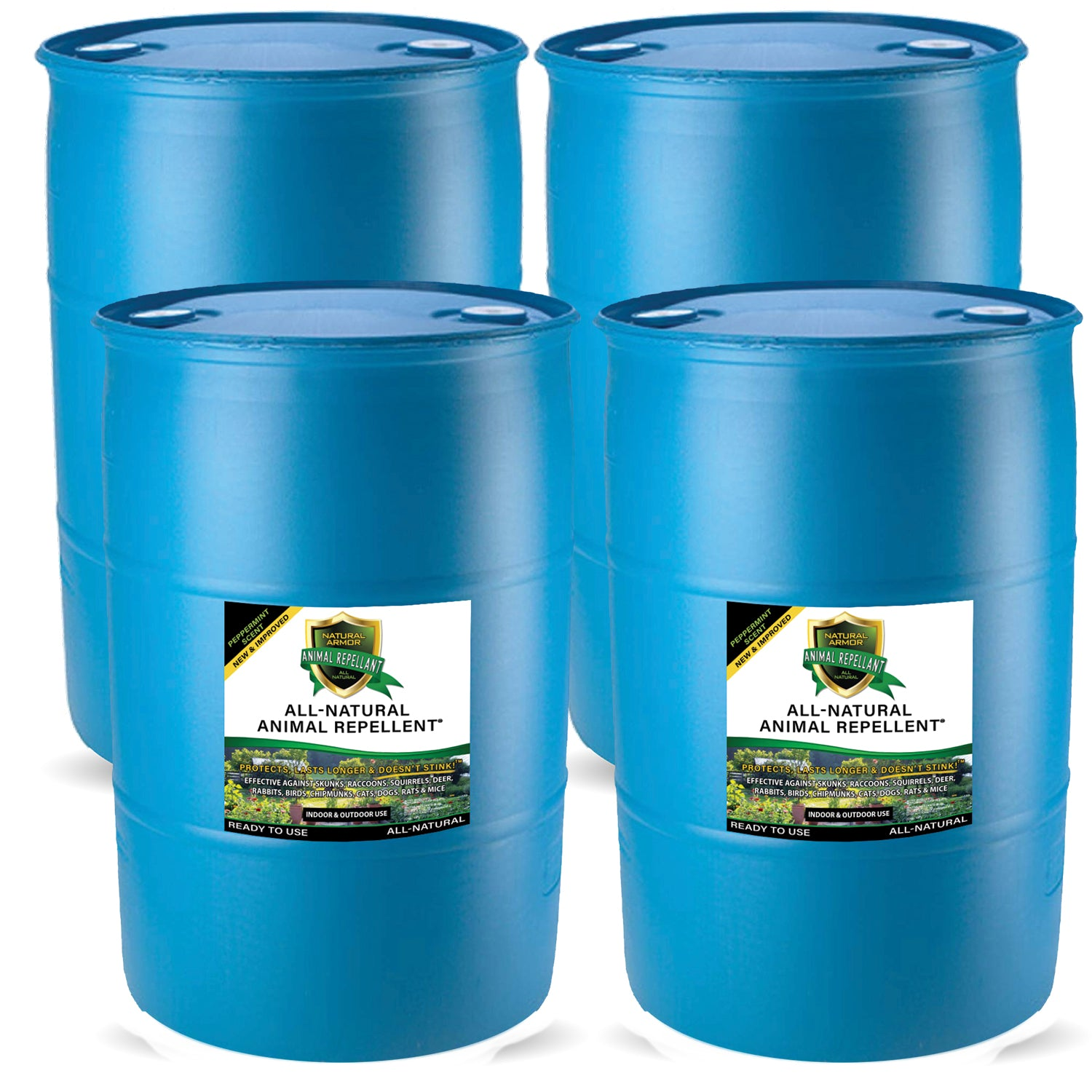 Animal Repellent –– Peppermint Scent (4) 55 GALLON DRUMS