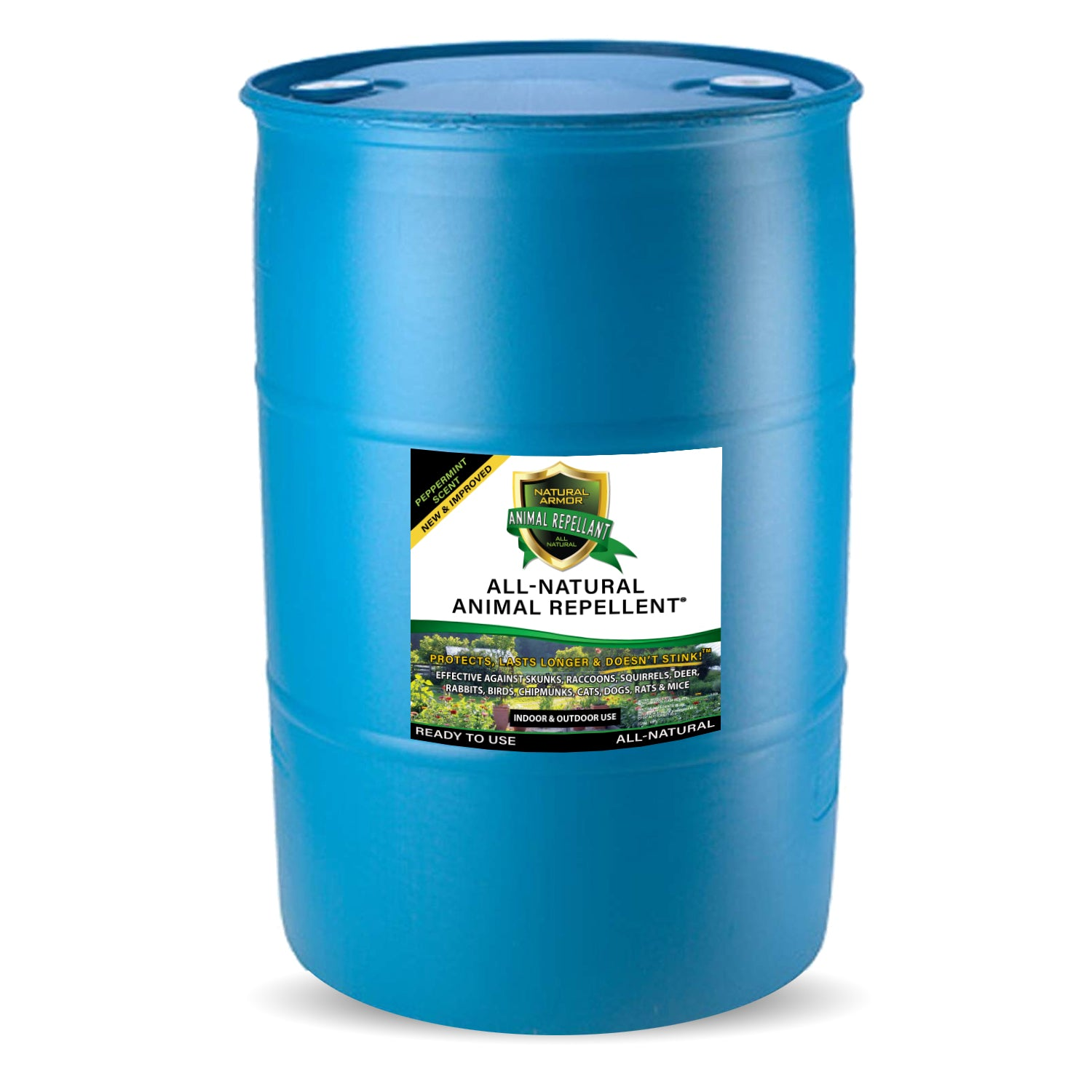 Animal Repellent –– Peppermint Scent (1) 30 GALLON DRUM