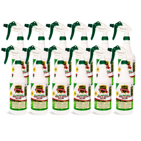 All-Natural Weed Killer Ready-to-Use — Case of (12) Quarts