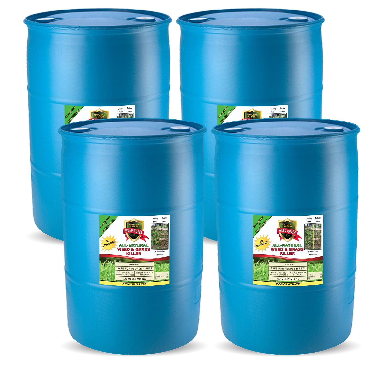 Natural Armor All-Natural Weed Killer — (4) 55 Gallons — 4-1 Concentrate