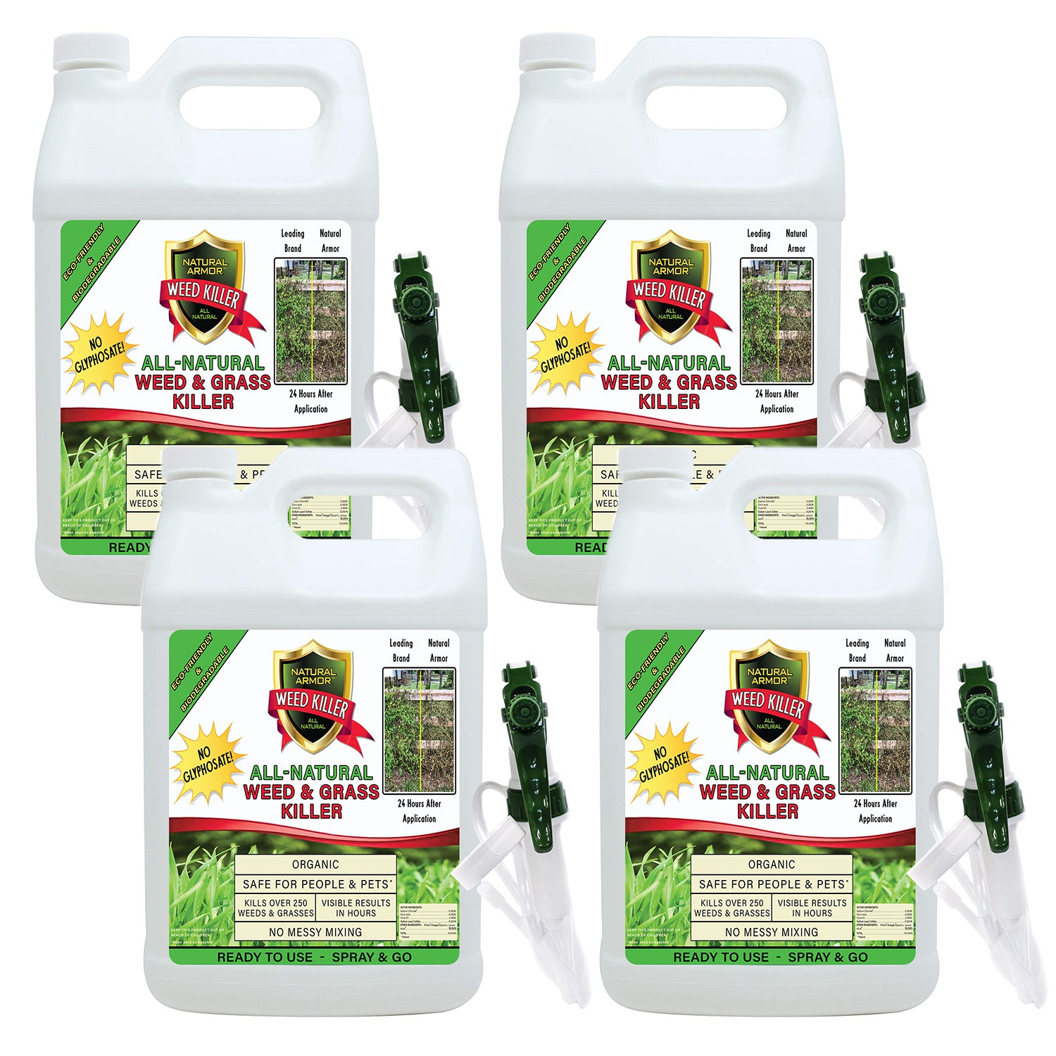 Natural Armor All-Natural Weed Killer - CASE OF 4 GALLONS
