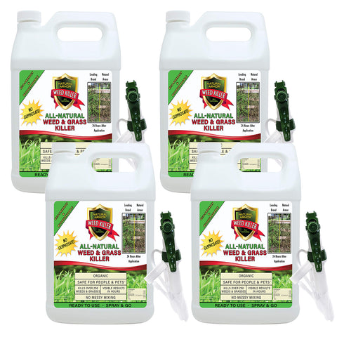 All-Natural Weed Killer Ready-to-Use — Case of (4) Gallons