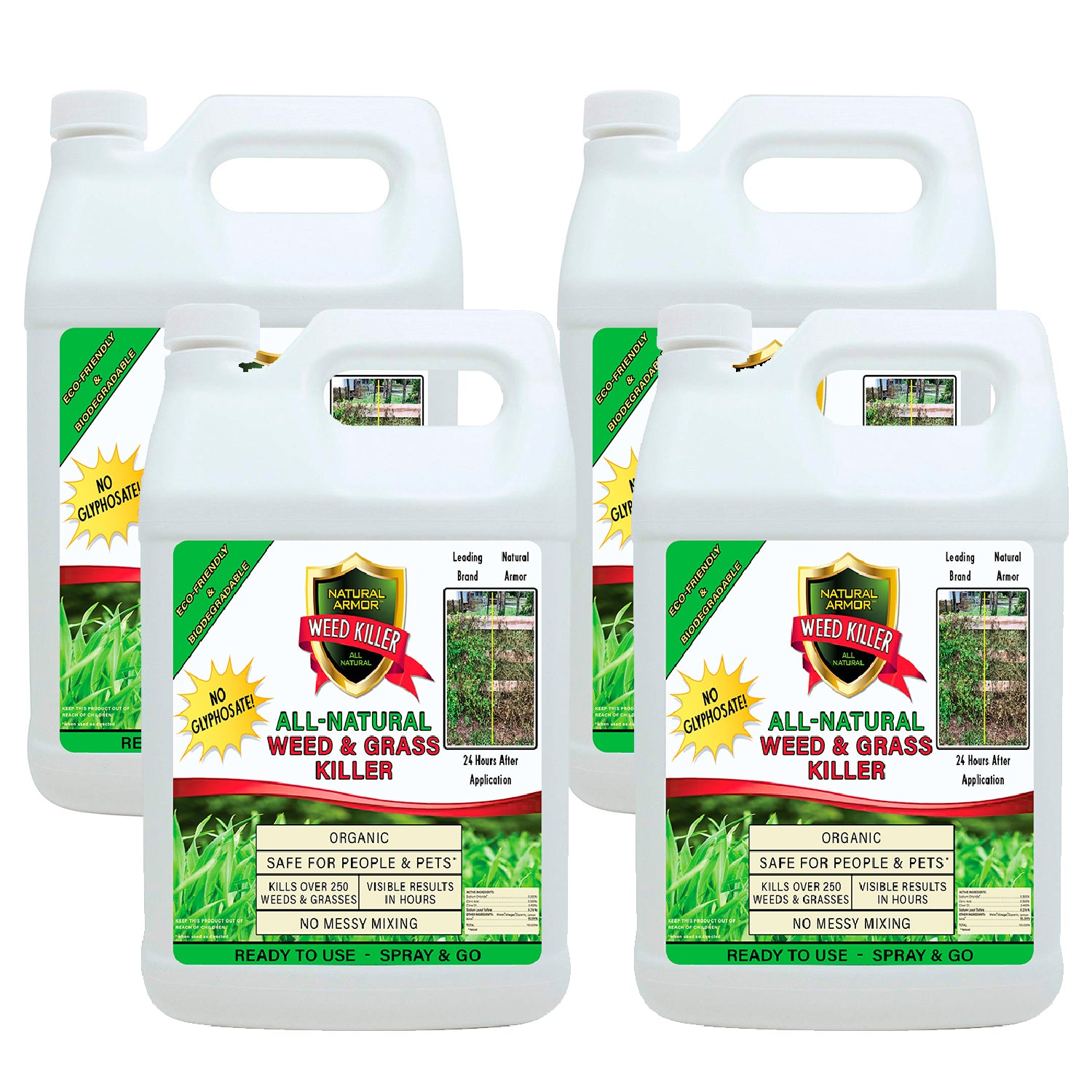 Natural Armor All-Natural Weed Killer - CASE OF 4 GALLON REFILLS