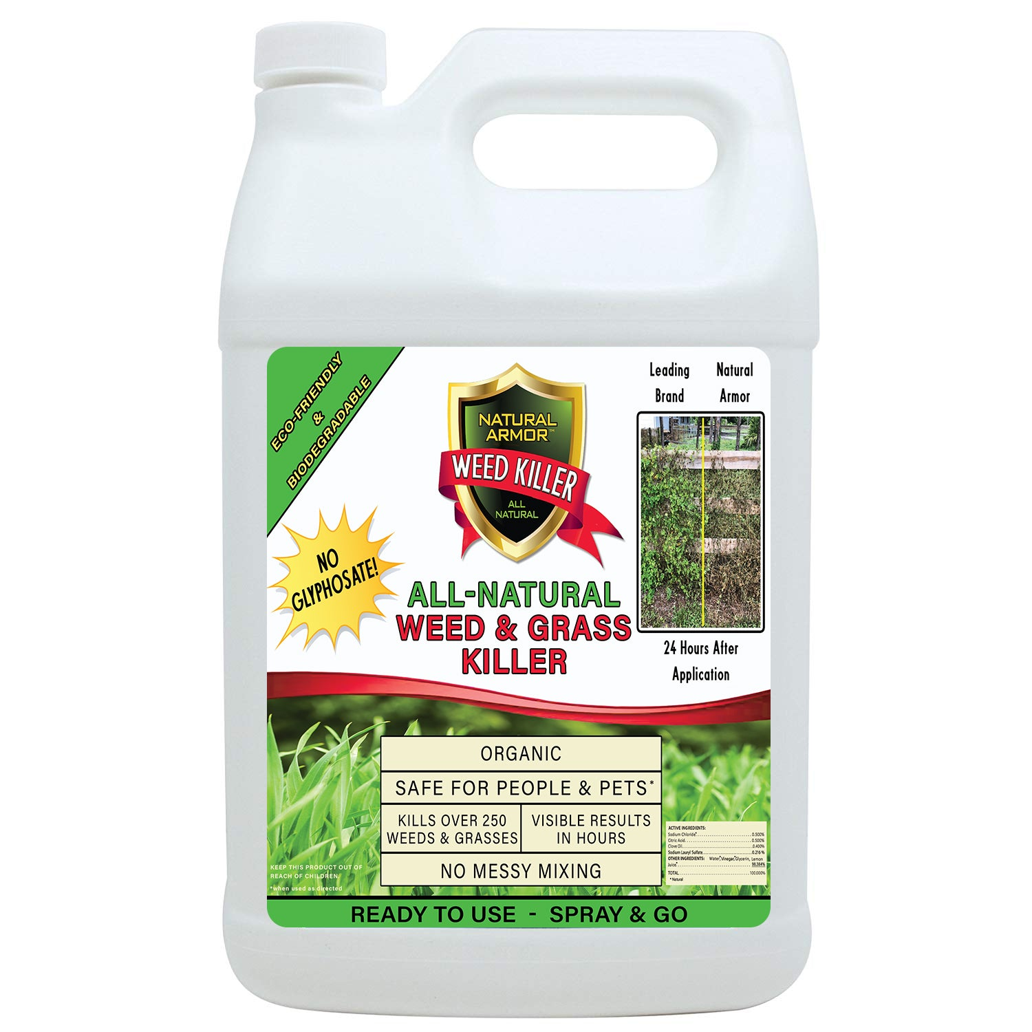 Natural Armor All-Natural Weed Killer - GALLON Refill (128 oz.)