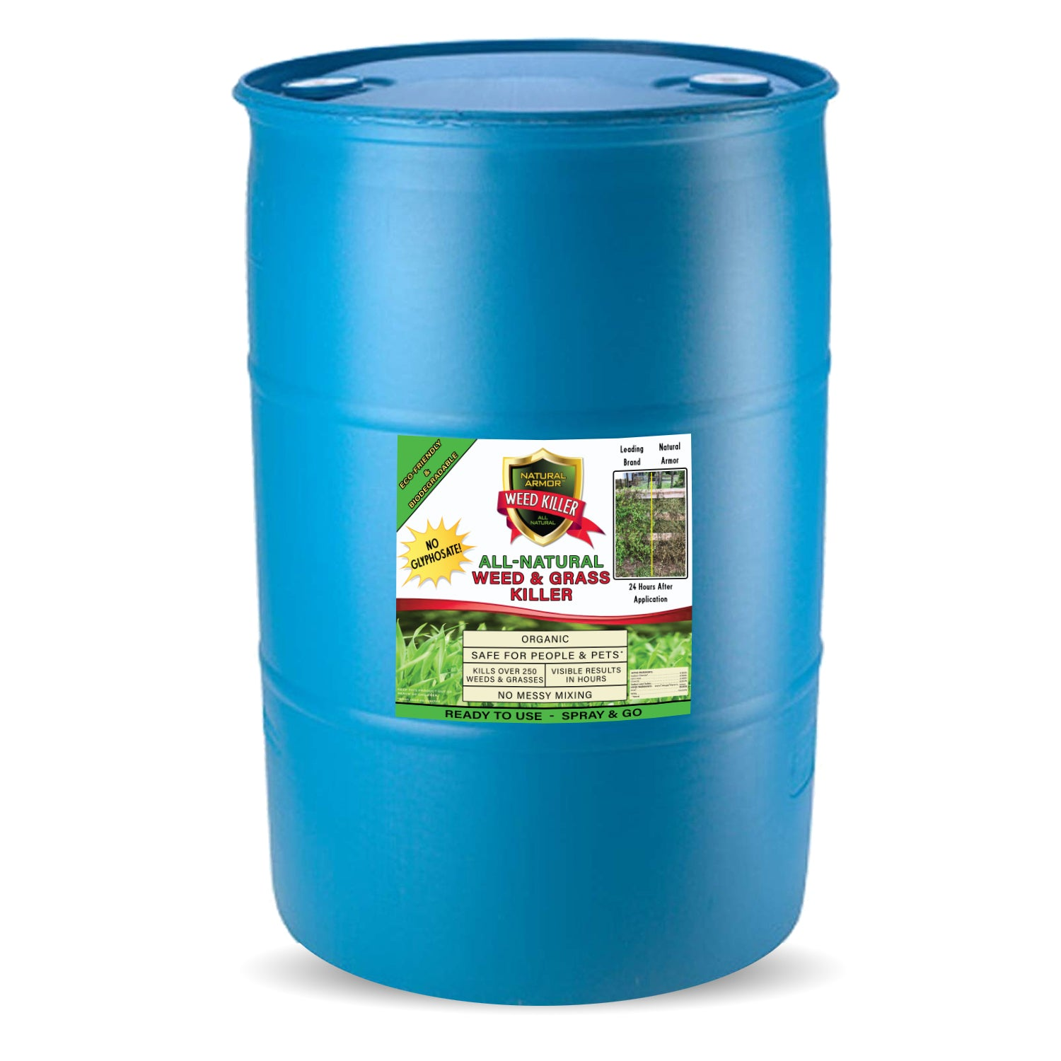 Natural Armor All-Natural Weed Killer — (1) 55 Gallons - Ready to Use