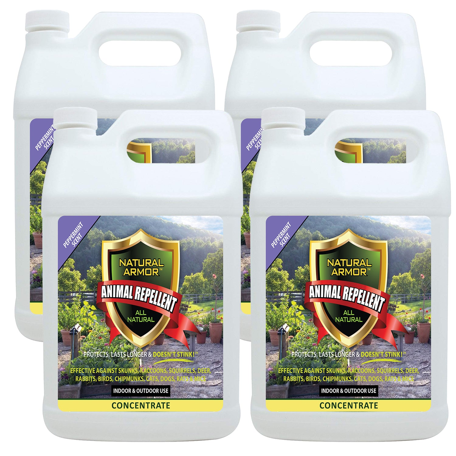 Animal Repellent - 7-to-1 Concentrate — Peppermint Scent - Case of (4) Gallons