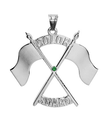 Color Guard Double Flag Charm | Sterling Silver - ColorGuard Gifts - 3