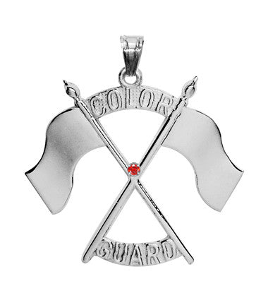 Color Guard Double Flag Charm | Sterling Silver - ColorGuard Gifts - 4