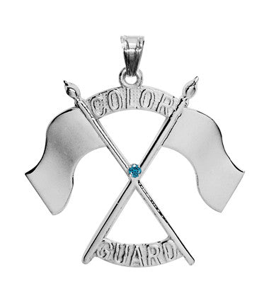 Color Guard Double Flag Charm | Sterling Silver - ColorGuard Gifts - 5