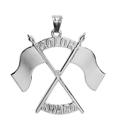 Color Guard Double Flag Charm | Sterling Silver - ColorGuard Gifts - 7