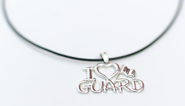 I Love GUARD Necklace for ColorGuard | Silver - ColorGuard Gifts  - 2