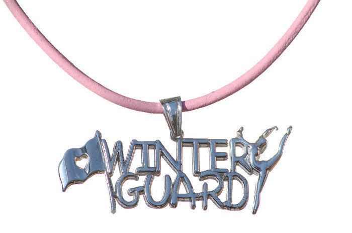 Winter Guard Necklace | Sterling Silver - ColorGuard Gifts - 1