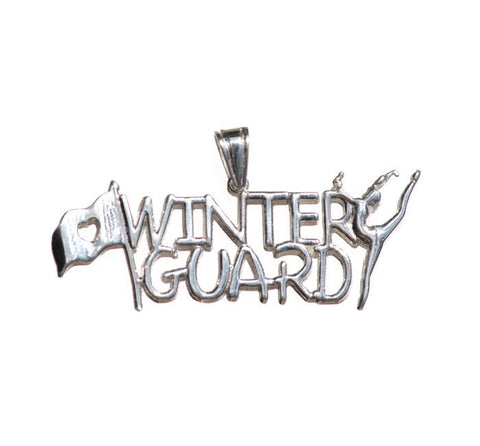 Winter Guard Charm | Sterling Silver - ColorGuard Gifts