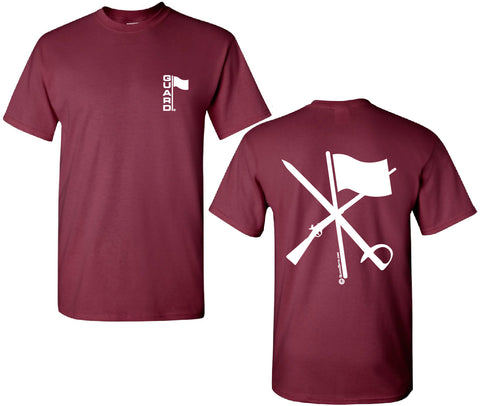 T Shirt for Color Guard or Winter Guard in Burgundy