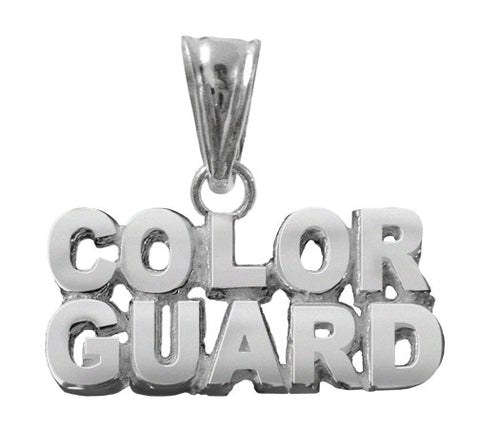 Sterling Silver Color Guard Pendant / Charm - ColorGuard Gifts