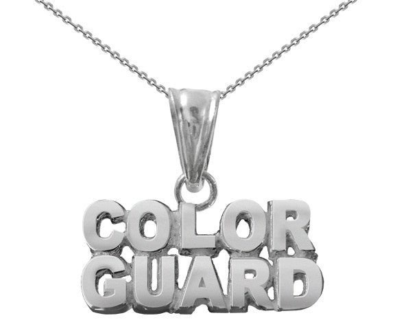 Sterling Silver Color Guard Necklace - ColorGuard Gifts