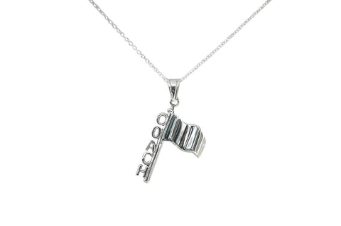 Color Guard Coach Necklace | Sterling Silver - ColorGuard Gifts - 1
