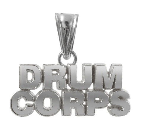Drum Corps Charm | Sterling Silver Jewelry - ColorGuard Gifts